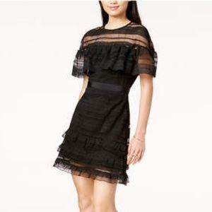 MareMare, ??Size M??, Black-Mesh, Mini Dress